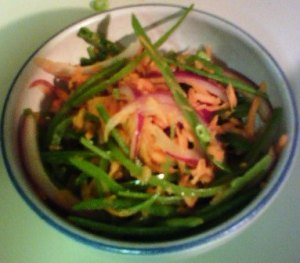 Snow Pea and Carrot SLaw