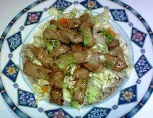 Cold Soba Noodles w/ Vietnamese Pork