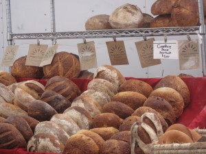 Our Daily Bread's booth.  I bought some whole wheat bread and some challah.