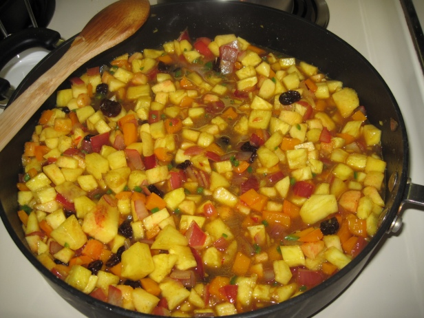 Curried Pineapple and Stone Fruit Chutney