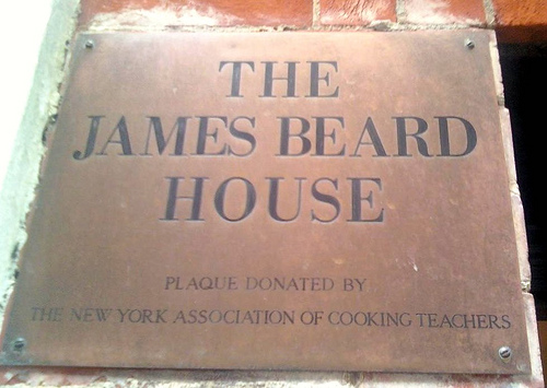 James Beard House Plaque