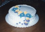 This was the first cake where I used basketweave. And the flowers were pretty good, too. I had the worst camera ever.