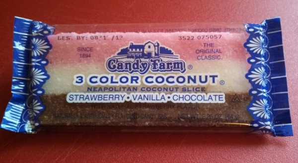 Candy Farm 3 Color Coconut Neapolitan Coconut Slice