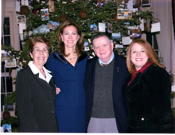 Our visit to the Executive Mansion in December 2007. From l-r: Margaret Keenan, Mrs. Silda Wall Spitzer, Jack Keenan, me (Wendy Voelker)